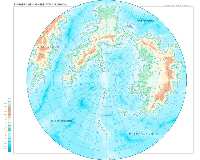Southern Hemisphere, topographical
